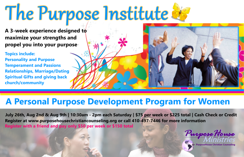 The Purpose Institute Flyer